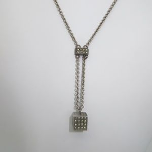 Vintage Sterling Necklace with Marcasite